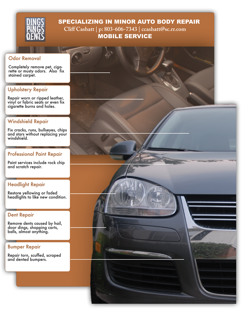 Dings Pings and Dents - Mobile Auto Body Repair, Columbia SC, Lexington SC